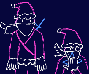 Santa claus ninjas