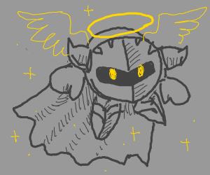 Meta Knight (ish), an angel! He good boy