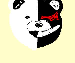 that black and white bear from that anime