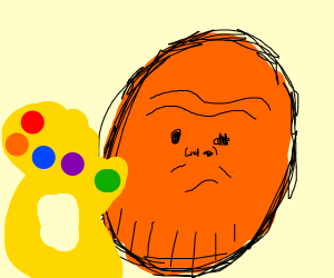 orange Thanis doing the snappening