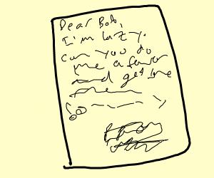 Lazy Letter