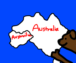 Dog approves of new country Austruilia
