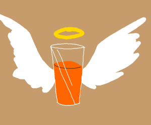 orange juice is holy (and that is a fact)
