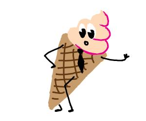 Gelato ice cream man