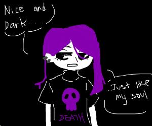 Emo girl in the dark