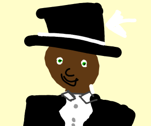 Person w/ blue top hat