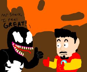 Venom feels great, iron man approves