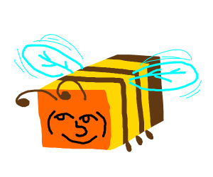 minecraft bee with lenny face