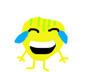 Emoji with stripes on top