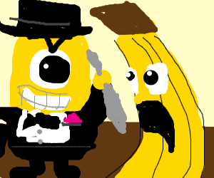 Well dressed minion murders banana