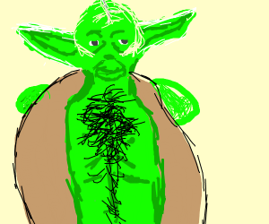 Yoda reveals his chest hair