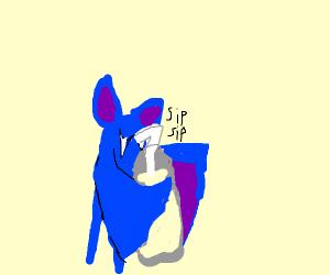 Zubat drinks a Smoothie