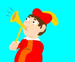 Midieval trumpet