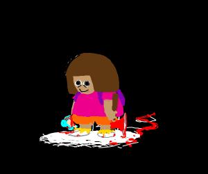 Dora did her terrible deed...
