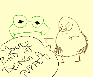 potato yells at kermit