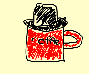 Coffee wearing a Hat