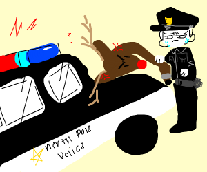 Rudolph the Reindeer gets detained by police