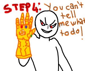 Step3:Don't put the gauntlet on.