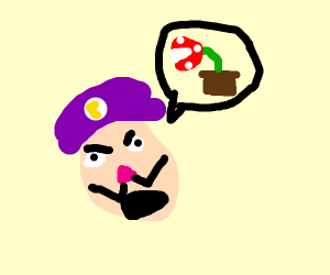waluigi is gealouse of pirhana plant