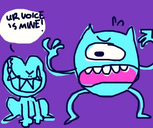 Evil Toad takes away Mike Wazowski's voice