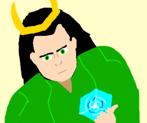 Loki with tesseract
