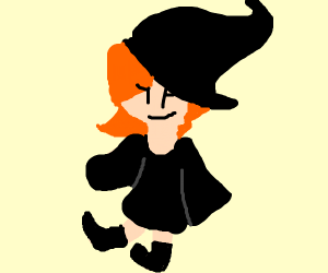Girl with witch hat