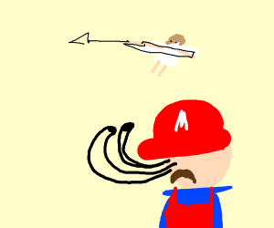 Pit flies away from Mario
