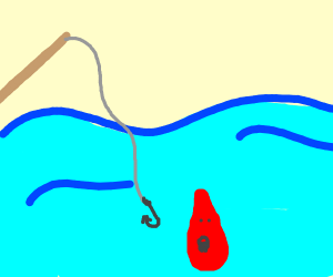 fishing for blood