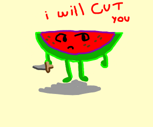 Watermelon Devil Threatens You
