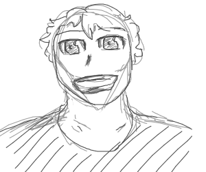 happy anime boy