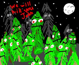 Evil sentient forest