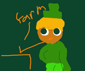 Farmer looks like a leprechaun