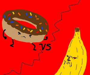 donut vs banana
