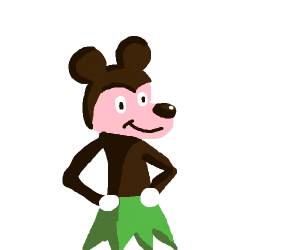 mowgli from jungle book as mickey mouse
