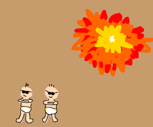 Cool babies don't look at explosions