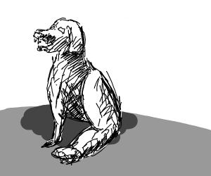 Dog with buff legs