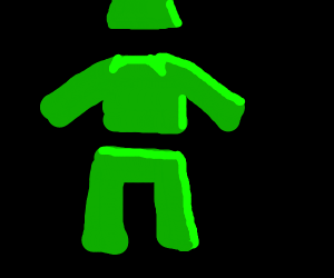 A completely green outfit
