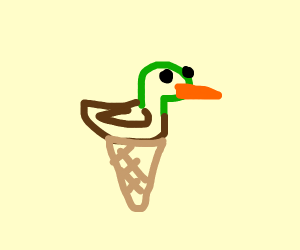 duck in an ice cream