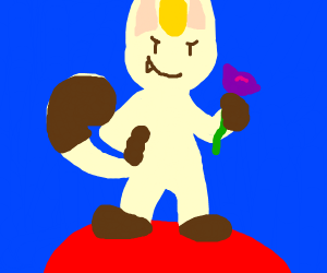 Realistic meowth on R w/ James's rose