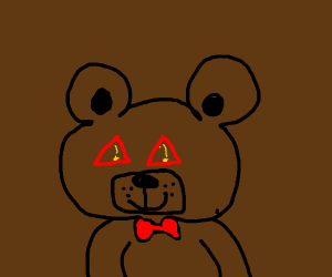 Toy Bear with error eyes