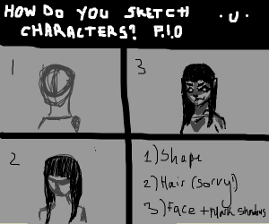 how do you sketch characters? pio