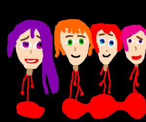 DDLC but they're all decapitated heads