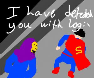 Skeletor defeats Superman