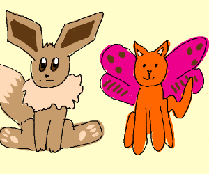 Eevee Sits With A MothCat