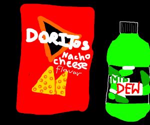 Bag of Doritos & Mountain Dew
