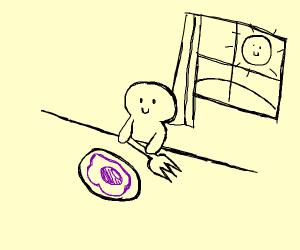 purple egg for breakfast