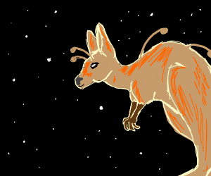 alien, kangaroo, space