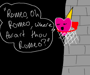 Heart in basketball hoop ft. Romeo and Juliet