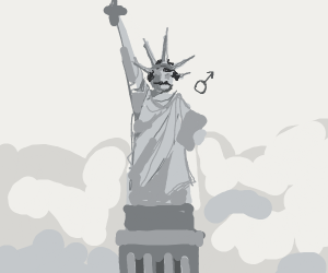 Statue of Liberty but it's a man
