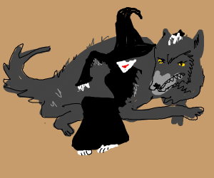 Witch familiar is a wolf